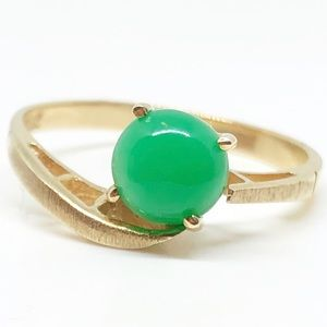 Vintage Jewelry - 10k Yellow Gold Vintage Genuine Cabochon Ring